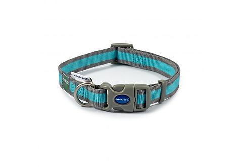 Made From Dog Collar Blue & Grey Stripe. Price from