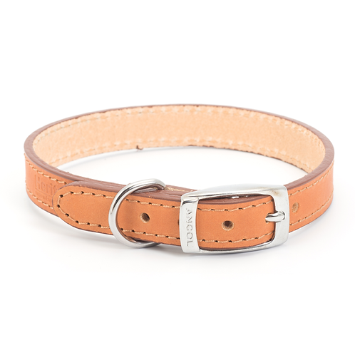 CLASSIC BRIDLE LEATHER COLLAR TAN. Price from