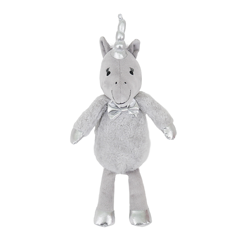 Silver Unicorn Soft Squeaky Toy for Dogs