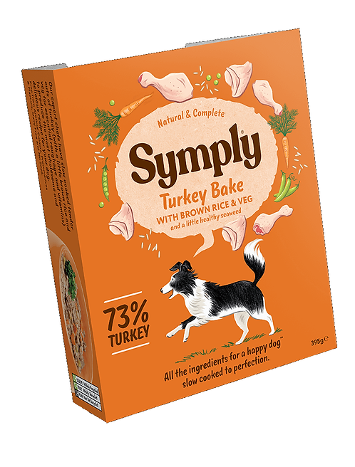 Symply Turkey Bake Adult Dog Food 395g