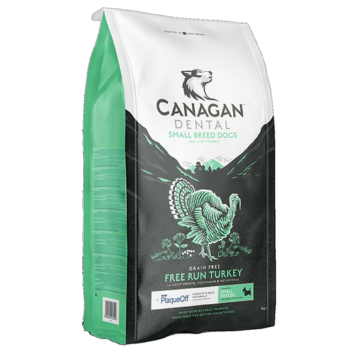 Canagan Small Breed FreeRun Turkey Dental For All Lifestages 2kg, 6kg Price From