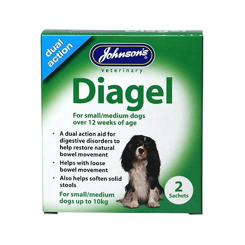 Johnson's Diagel For Small to Medium Dogs. 2 x 10g Sachet