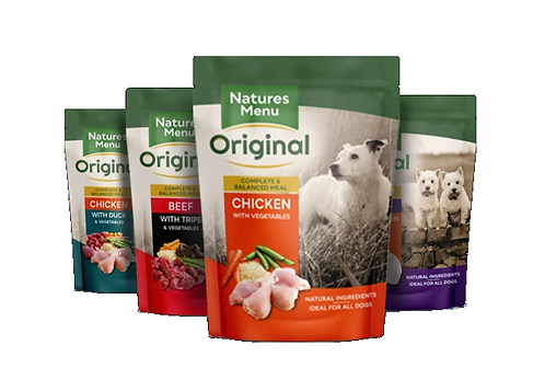 NATURES MENU DOG POUCHES  MULTIPACK  FOR ADULT DOGS 8 x 300g