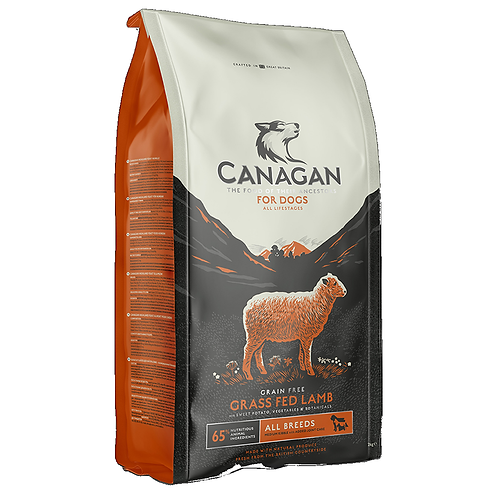 Canagan Grass Fed Lamb for all lifestages 2kg, 6kg, 12kg. Price From