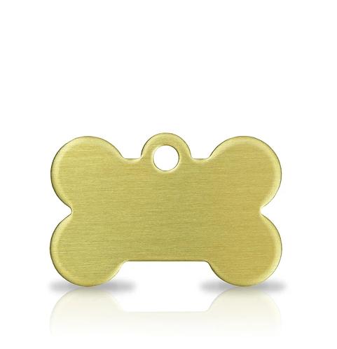 Small Brass Bone Engraved ID Tag