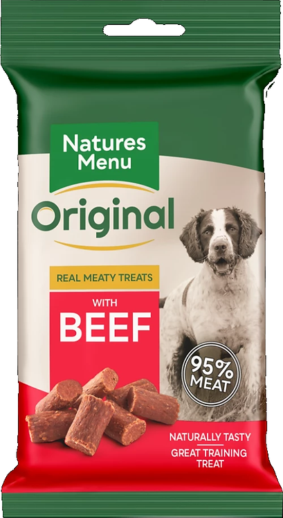 NATURES MENU TREATS  BEEF  FOR DOGS 60g