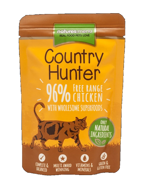 Country Hunter Cat Pouch Free Range Chicken For Adult Cats 85g