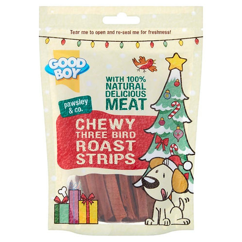 Chewy 3 Bird Roast Strips 70g