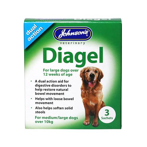 Johnson's Diagel For Large Dogs. 3 x 10g Sachet