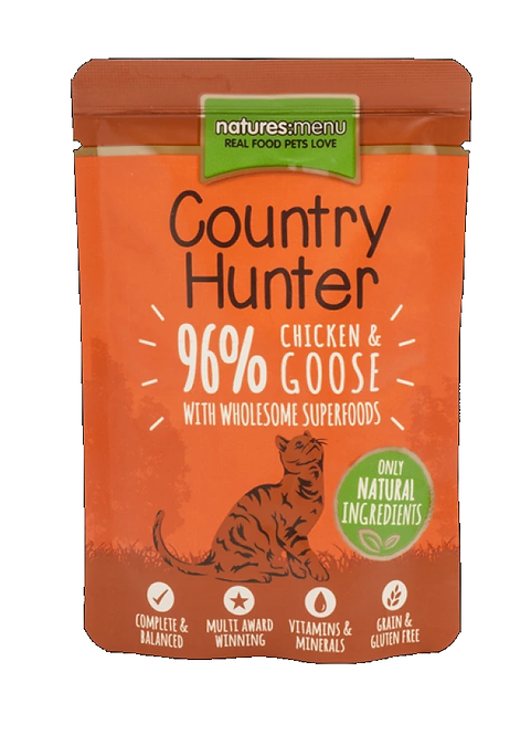 Country Hunter Cat Pouch Chicken & Goose For Adult Cats 85g