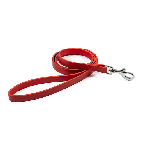 CLASSIC BRIDLE LEATHER LEAD RED. Price from