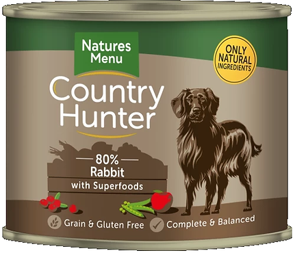 COUNTRY HUNTER CANS  RABBIT WITH SUPERFOODS  FOR ADULT DOGS