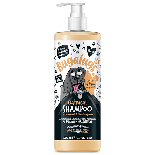 Bugalugs Oatmeal Dog Shampoo 500ml