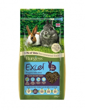 EXCEL JUNIOR & DWARF RABBIT NUGGETS WITH MINT 2kg