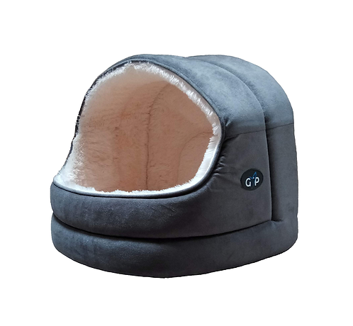 Nordic Grey Hooded Snuggle Bed