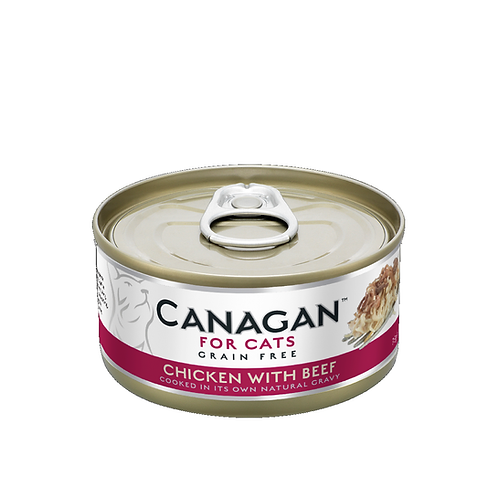 CANAGAN CHICKEN WITH BEEF FOR ALL LIFESTAGES 75g