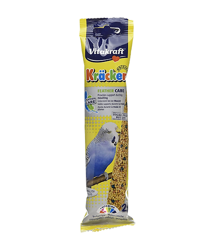 Vitakraft Budgie Kräcker Feather Care. Twin Pack