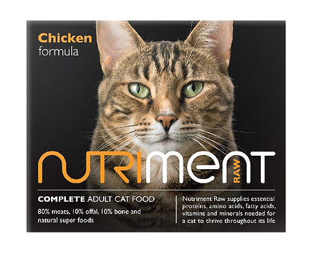 Nutriment Raw Cat Food Chicken 500g