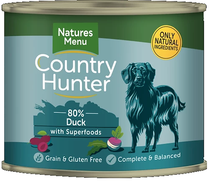 COUNTRY HUNTER CANS  DUCK WITH SUPERFOODS  FOR ADULT DOGS