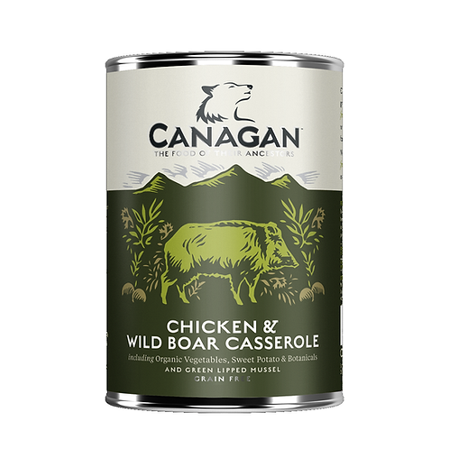 Canagan Chicken & Wild Boar Casserole 400g for adult dogs