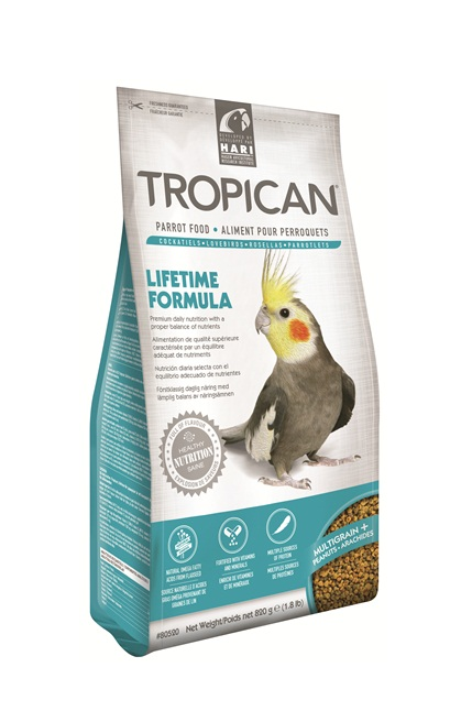 Tropican Cockatiel Lifetime Granules 2mm 820g