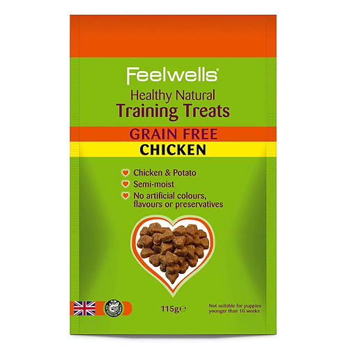 Feelwell's Grain Free Chicken Training Treats 115g
