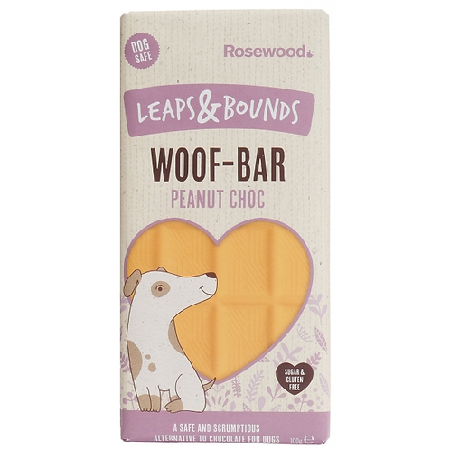Leaps & Bounds Peanut Choc Woof Bar For Dogs 100g