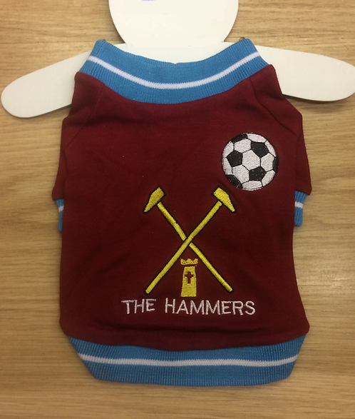 The Hammers Supporter T-Shirt For Dogs xxs