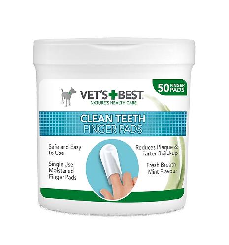 Vet's Best Clean Teeth Finger Pads 50pk