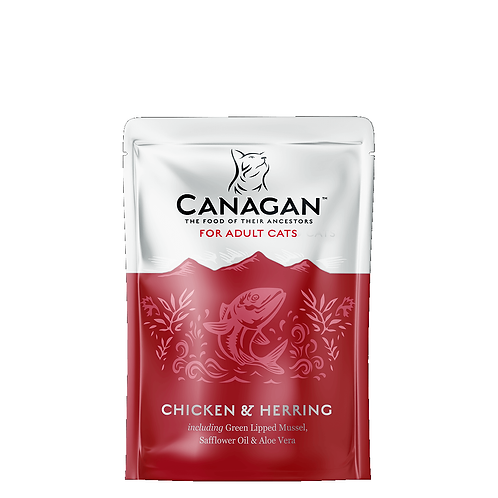 CANAGAN POUCH CHICKEN & HERRING FOR ADULT CATS 85g