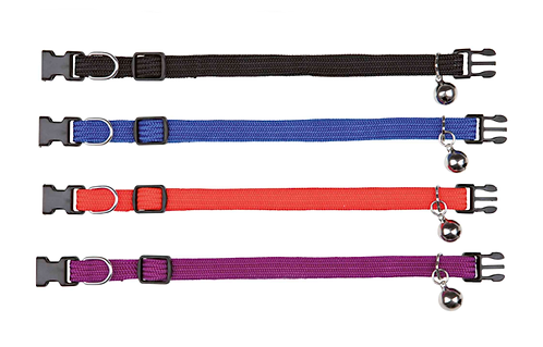 SAFETY CAT COLLAR all elastic in various colours