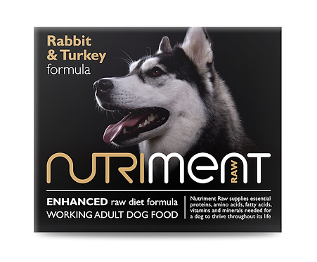 Nutriment Raw Food Rabbit & Turkey 500g