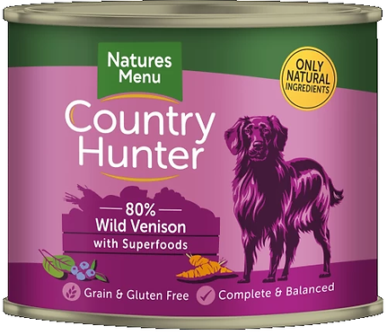 COUNTRY HUNTER CANS  WILD VENISON WITH SUPERFOODS  FOR ADULT DOGS