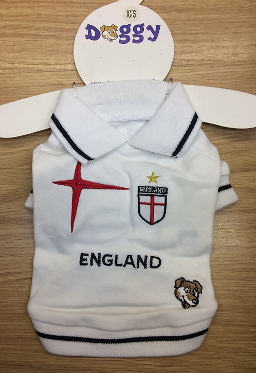 England Supporter T-Shirt For Dogs xxs