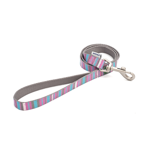Made From Dog Lead Pink Candy Stripe. 100cm x 1.9cm
