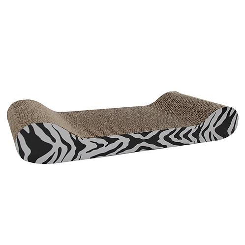 Catit Tiger Design Cat Scratching Board with catnip, Large