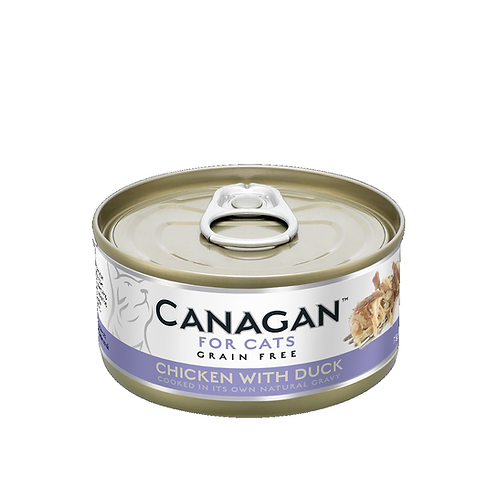 CANAGAN CHICKEN WITH DUCK FOR ALL LIFESTAGES 75g
