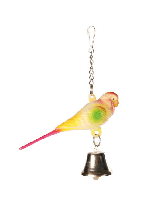 Budgie On Chain with bell 9cm