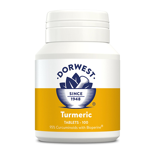 Dorwest Turmeric 100 Tablets for Cats & Dogs