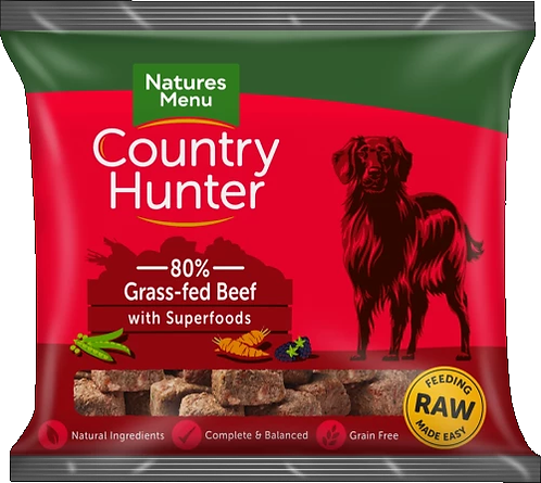 COUNTRY HUNTER RAW NUGGETS  GRASS-FED BEEF 1kg
