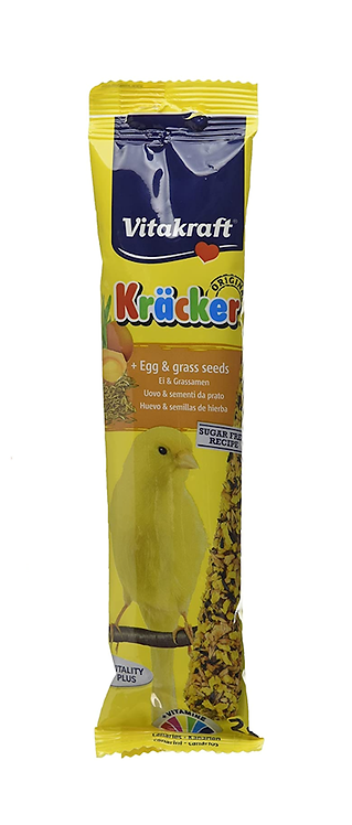 Vitakraft Canary Kräcker Egg & Grass Seed. Twin Pack