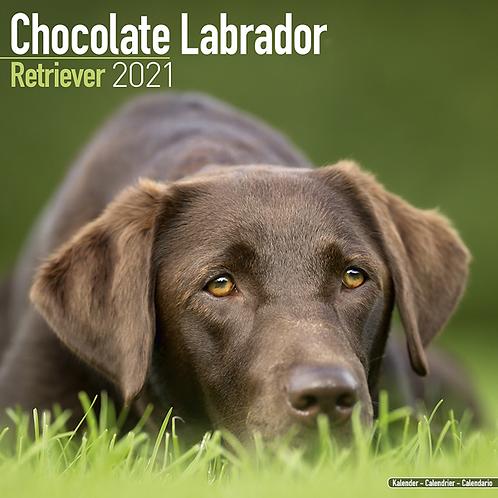2021 Chocolate Labrador Calendar