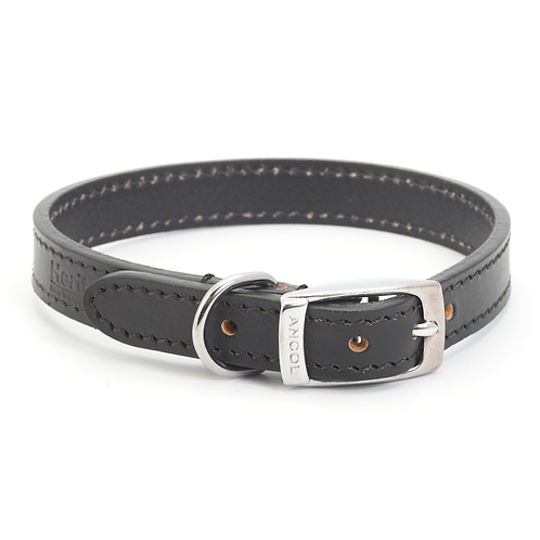 CLASSIC BRIDLE LEATHER COLLAR BLACK. Price from