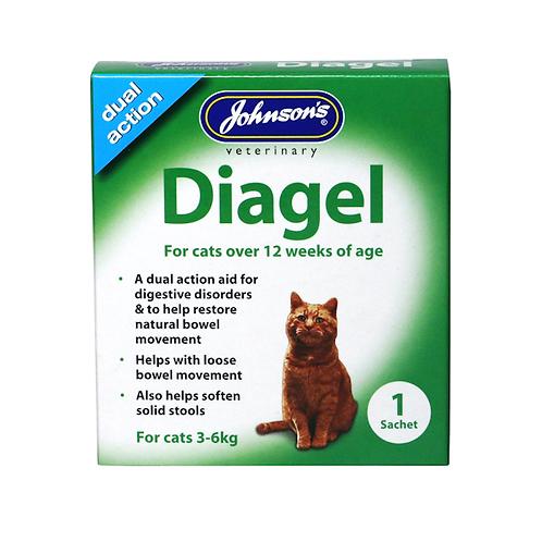 Johnson's Diagel For Cats. 1 x 10g Sachet