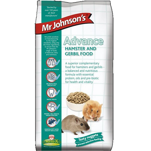 Mr Johnson's Advance HAMSTER & GERBIL FOOD 750g