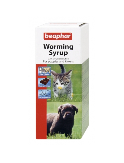 Beaphar Worm Syrup. For Puppies & Kittens
