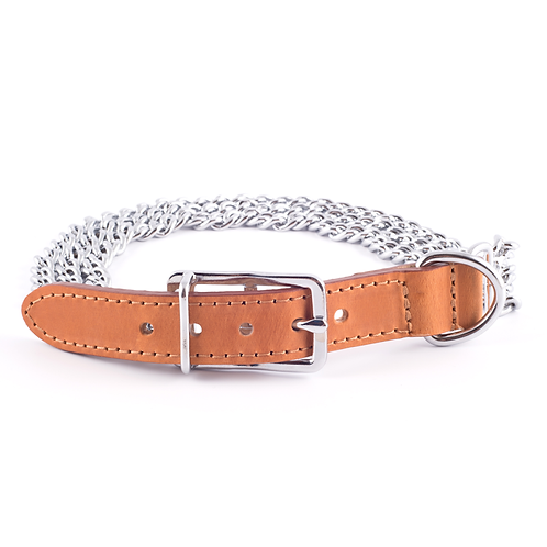 3 ROW CHAIN COLLAR, TAN. Price from