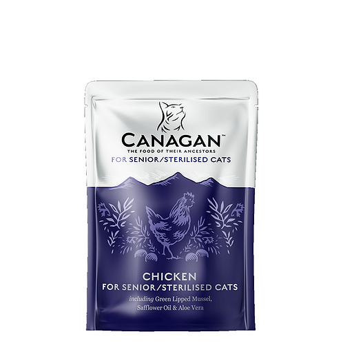 CANAGAN POUCH CHICKEN FOR SENIOR/STERILISED CATS  85g