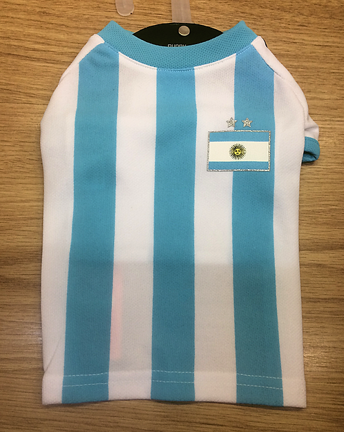 Puppy Angel Argentina Football Shirt for Dogs