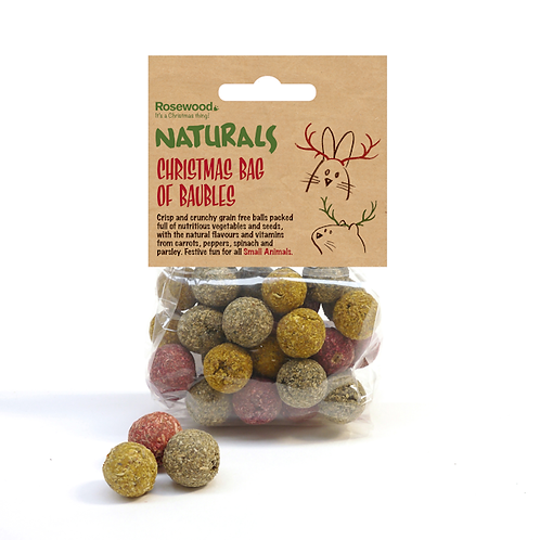 Naturals Christmas Bag of Baubles